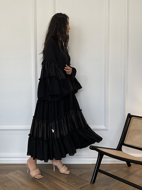 The pleated layer Abaya