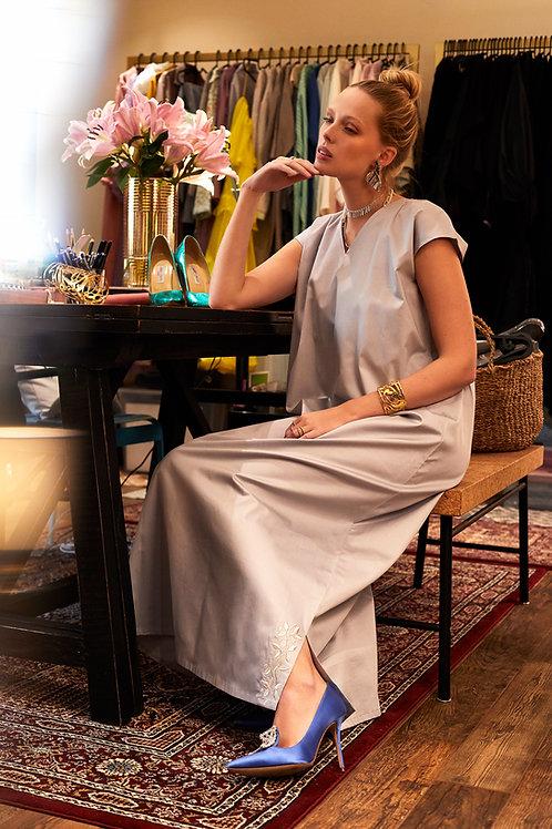 short sleeve dress with side slits