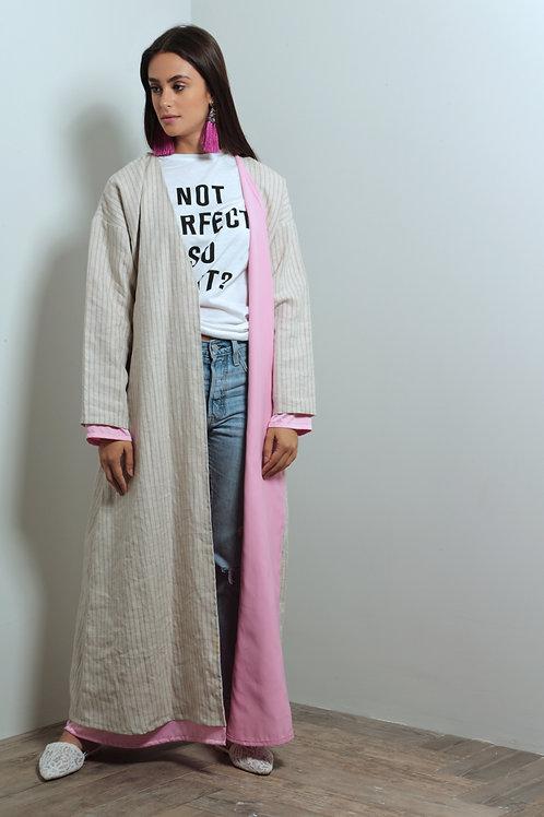 Summer Linen Abaya with silk blend lining