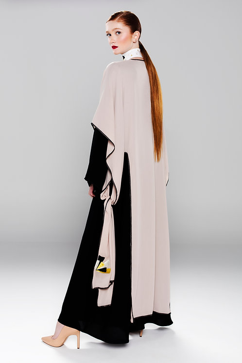 Double layered Abaya with embroidery details