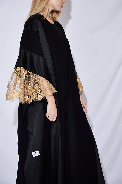 The Golden Sleeves Abaya