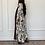 Thumbnail: Petal, reversible floral print Abaya in cotton and shefon