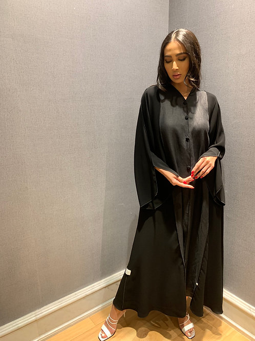 the black linen with overlock