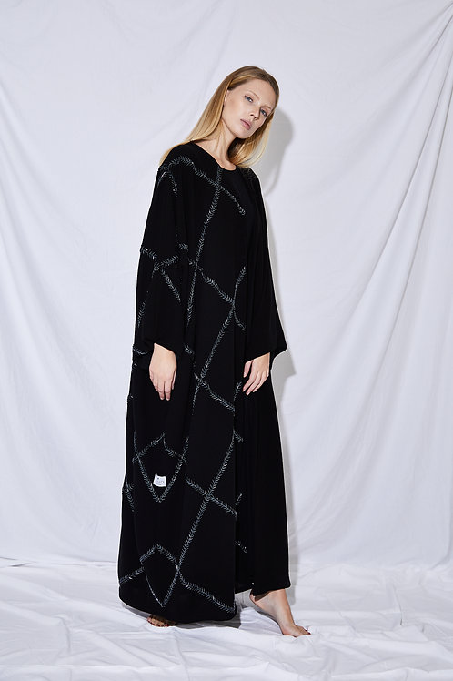 The Cross-beaded Abaya