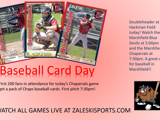 BASEBALL CARD DAY FOR CHAPARRALS