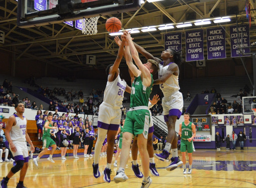 MUNCIE CENTRAL ENDS REGULAR SEASON WITH HOME WIN