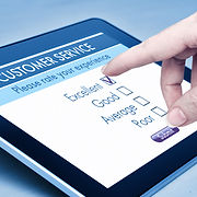 Online customer service satisfaction sur