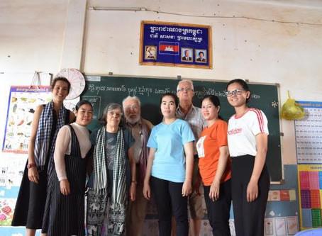 Marie Laure et Jean Louis Michard au Cambodge...
