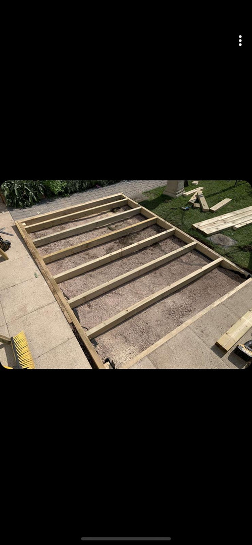 Frame for decking