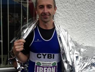 Irfon runs marathon for Tŷ Enfys