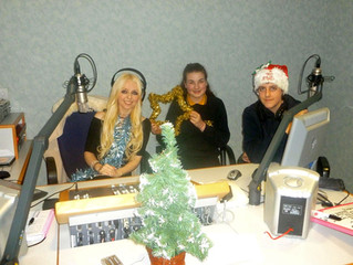 The Christmas crew on the Sarah Wynn Show