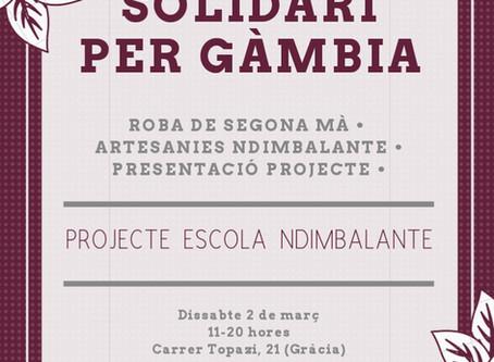 Mercat solidari per Gàmbia de roba de segona mà i bisuteria & llibretes d'artesania Ndimbala