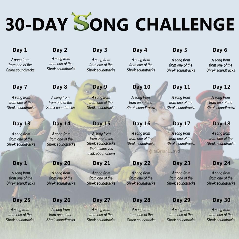 Shrek 30 Day Song Challenge