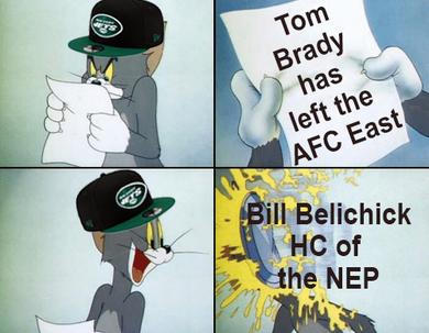 Tom Brady // Tom and Jerry // NY JetsMeme