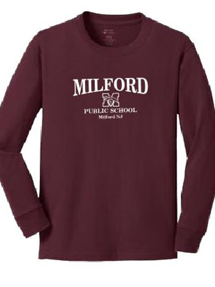 Cotton Long Sleeve T-shirt: Milford Design
