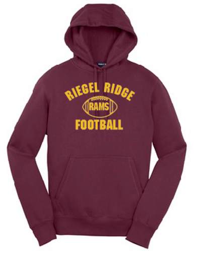 Fleece Pullover Hood (Plus Sizes): Football Design