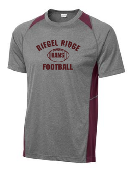 Sport-Tek® Heather Colorblock Contender Tee: Football Design