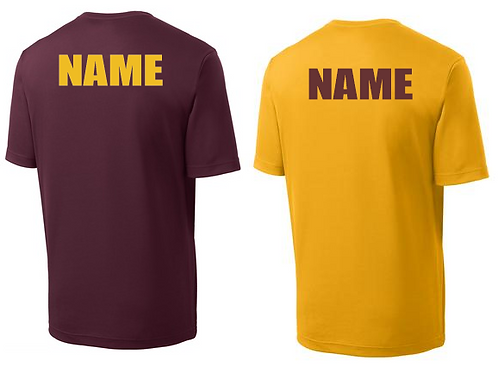 "Custom 2"" name on back of any garment"