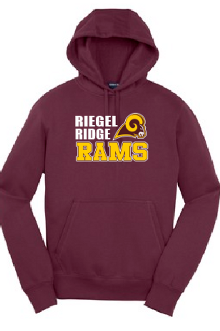 Fleece Pullover Hood (Plus Sizes): Ram Design