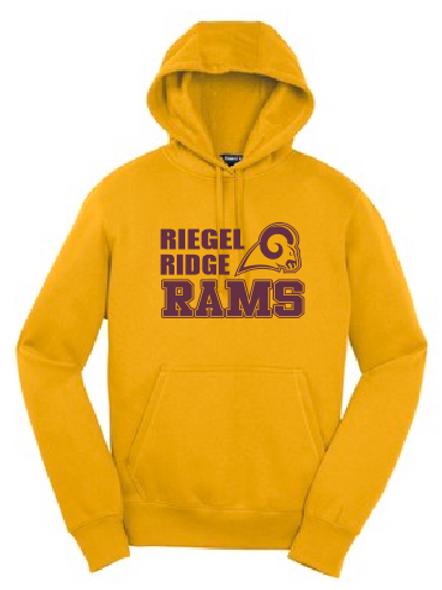 Fleece Pullover Hooded Sweatshirt: Ram Design