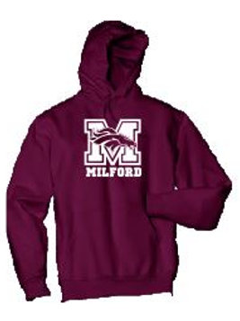 Fleece Pullover Hooded Sweatshirt: Mustang Design