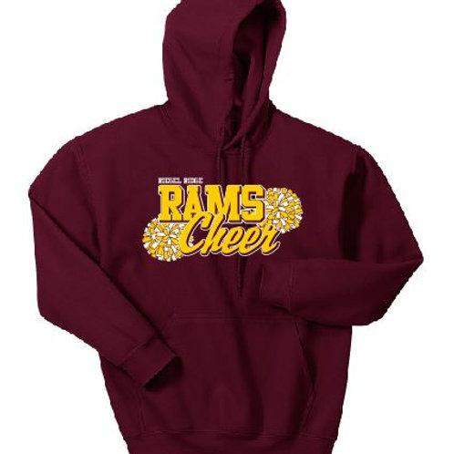 Fleece Pullover Hooded Sweatshirt: Cheer Design