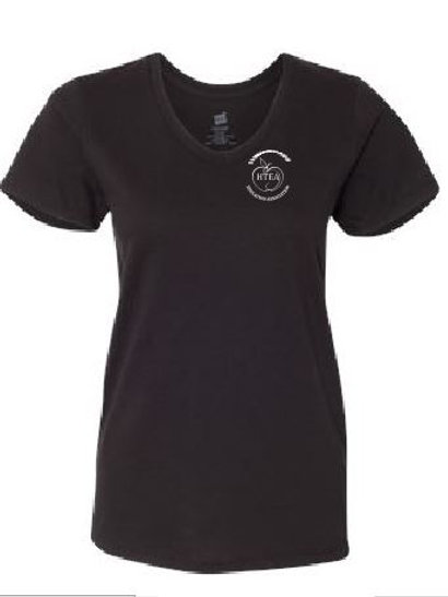 HTEA Ladies V-Neck Cotton T-shirt