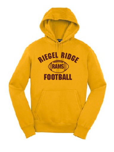 Fleece Pullover Hooded Sweatshirt: Football Design
