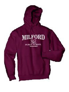 Fleece Pullover Hooded Sweatshirt: Milford Design