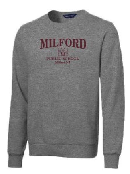 Sport-Tek® Super Heavyweight Crewneck Sweatshirt: Milford Logo