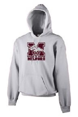 Fleece Pullover Hood (Plus Sizes): Mustang Design