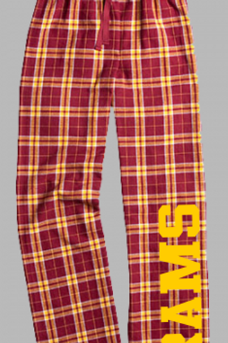 Boxercraft Plaid Lounge Pants: Rams