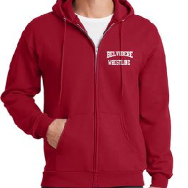 Full zip core blend hooded sweatshirt (plus sizes)
