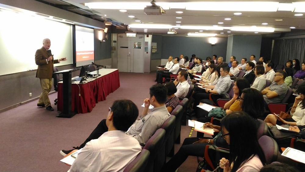 Colin Millward speaks at PMI Hong Kong Chapter