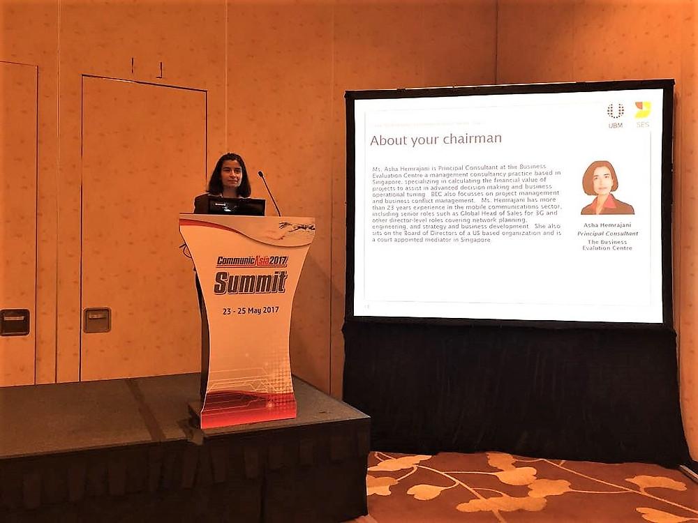 Asha Hemrajani at CommunicAsia Summit 2017