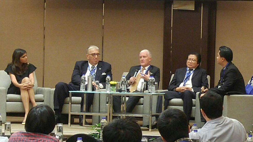 Colin Millward at a panel discussion, PMI Malaysia Chapter