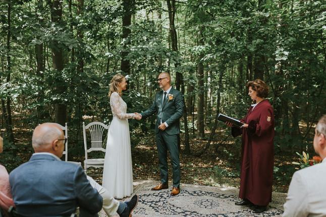 E + G // Hippe bruiloft in het bos