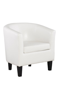 COLBY WHITE TUB CHAIR