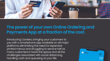NEW - Cordero the power of your own Online Ordering and Payments App at a fraction of the cost.