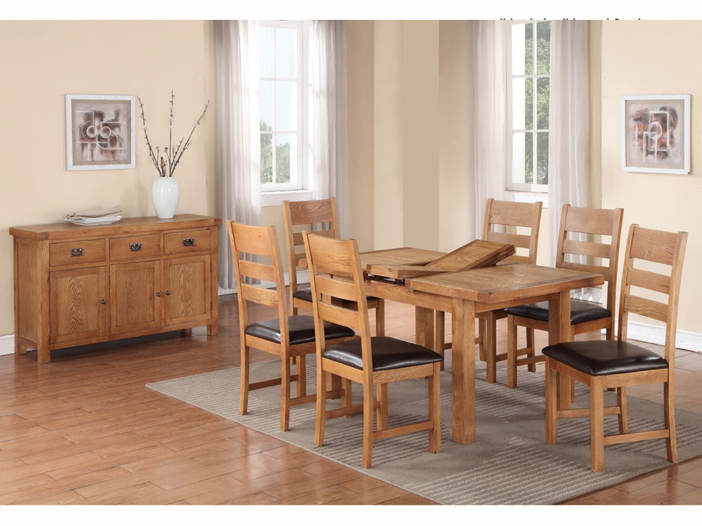HARVEST OAK DINING SET