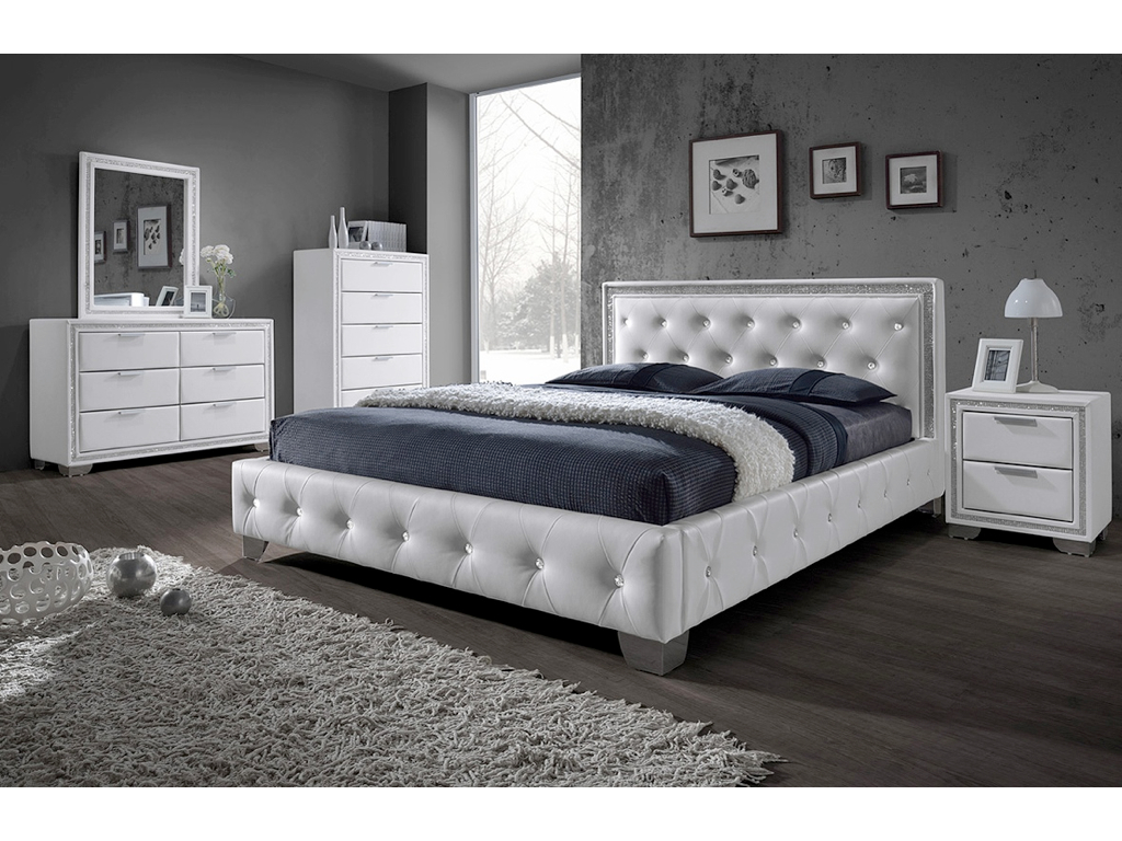 CRYSTAL WHITE BEDROOM RANGE