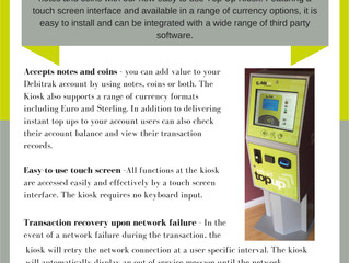 Debitrak Top Up Kiosk Data Sheet