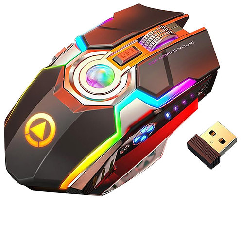 Rechargeable RGB & Backlit 1600 DPI Gaming Mouse  with 7 Keys