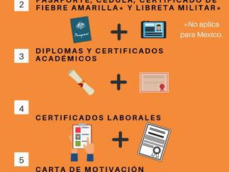¿Qué documentos necesito para aplicar a una visa de estudiante?