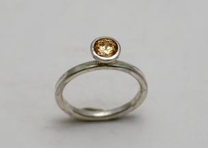 CZ Topaz Ring
