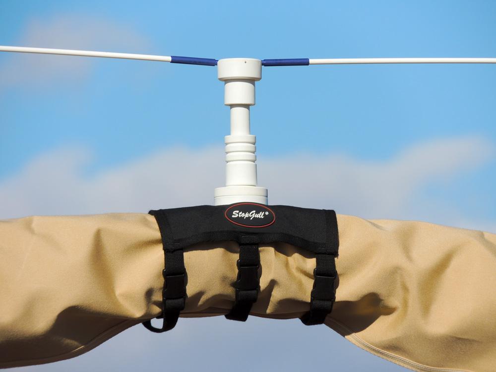 Bimini folded support for StopGull Air