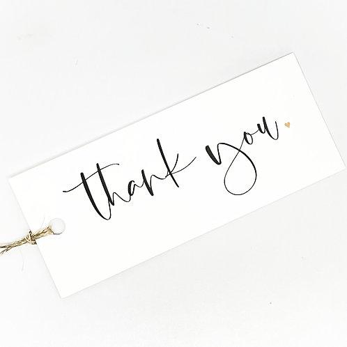 thank you script gold heart