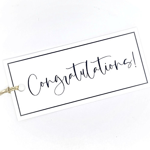 large congratulations framed