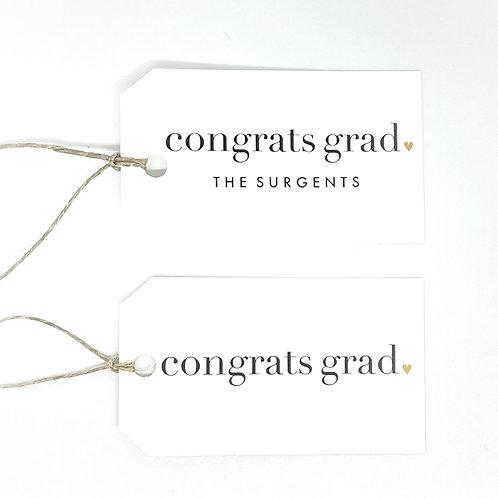 congrats grad gold heart