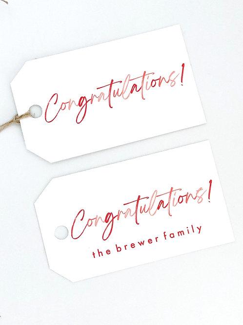 congratulations pink ombre